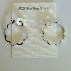 .925 sterling silver fancy hoop earrings